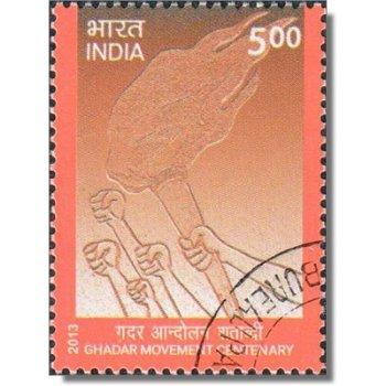 100 Jahre Ghadar Bewegung - Briefmarke gestempelt, Katalog-Nr. 2691, Indien