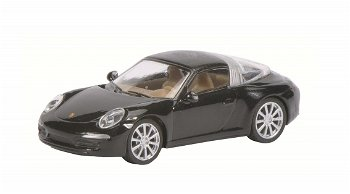 Modellauto:Porsche 911 (991) Targa 4S, schwarz(Schuco, 1:87)