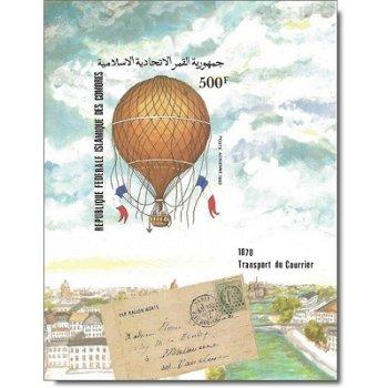 200 Jahre Luftfahrt – Briefmarken-Block postfrisch, ungezähnt, Katalog-Nr. 685, Block 234, Komoren