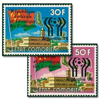 Fußball-Weltmeisterschaft 1978, Argentinien - zwei Briefmarken mit Aufdruck, postfrisch, Katalog-Nr.