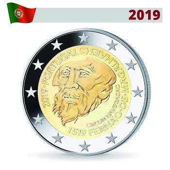 500 Jahre Weltumsegelung Magellan, 2 Euro Münze 2019, Portugal