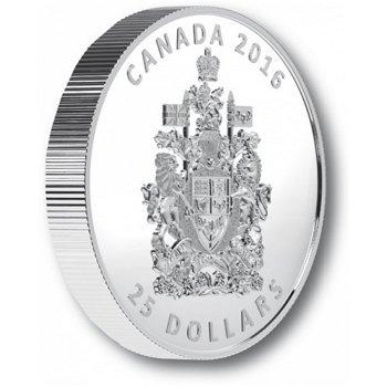 Das Wappen Canadas, 25 Dollar Piedfort-Münze, Canada