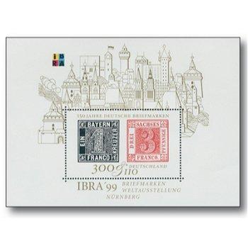150 Jahre Deutsche Briefmarken, Block 46 postfrisch, Katalog-Nr. 2041, Bundesrepublik