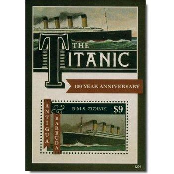 Titanic - Briefmarken-Block postfrisch, Antigua Barbuda