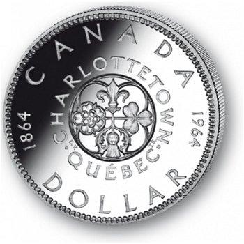 Québec - Silberdollar 1964, 1 Dollar Silbermünze, Canada