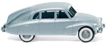Modellauto:Tatra 87 von 1937, blau-metallic(Wiking, 1:87)