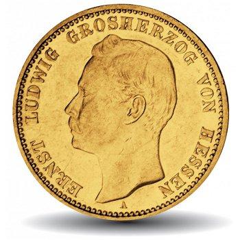 20 Mark Goldmünze, Ludwig III., Katalog-Nr. 225, Großherzogtum Hessen