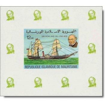 100. Todestag von Rowland Hill - 4 Luxusblocks postfrisch, Katalog-Nr. 636-640, Mauretanien