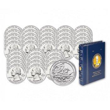 Komplette Sammlung der Nationalpark Quarter Münzen USA, inkl. Sammelalbum