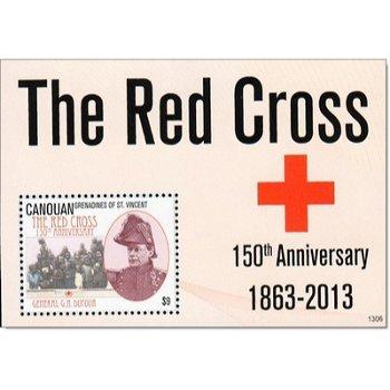 150 Jahre Rotes Kreuz - Briefmarken-Block postfrisch, St. Vincent-Grenadinen