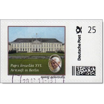 Pope Benedict XVI in Berlin - stamp individually stamped