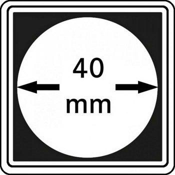 Münzkapseln CARRÉE 40 mm, 4er Pack, LI 2240040