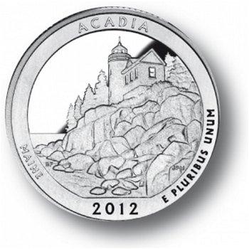 Acadia/Maine, Nationalpark Quarter Münze, USA