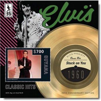 """Elvis Presley """"Stuck on you"""" - Briefmarken-Block postfrisch, Guyana"""