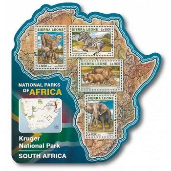 Krüger Nationalpark - Briefmarken-Block postfrisch, Sierra Leone
