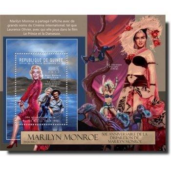 50. Todestag von Marilyn Monroe – Briefmarken-Block postfrisch, Guinea