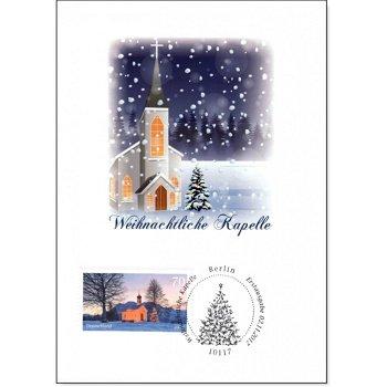 Weihnachtliche Kapelle - Maximumkarte gestempelt, Deutschland