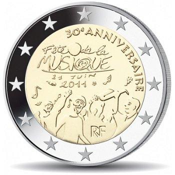 30 Jahre Fête de la Musique (Fest der Musik), 2 Euro Münze 2011, Frankreich