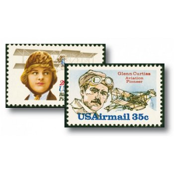 Aviation pioneers - 2 stamps mint never hinged, catalog no. 1453-1454