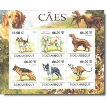 Hunde - Briefmarkenblock postfrisch, Mocambique