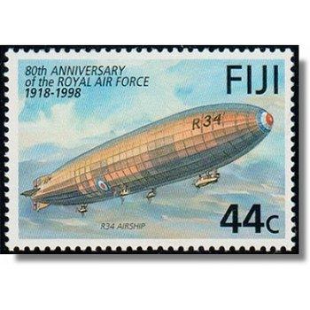 Zeppelin 80. Jahrestag Royal Air Force - Briefmarke postfrisch, Katalog-Nr. 843, Fiji