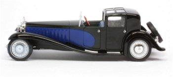 Modellauto:Bugatti Type 41 Royale von 1928, schwarz-blau(IXO Museum, 1:43)
