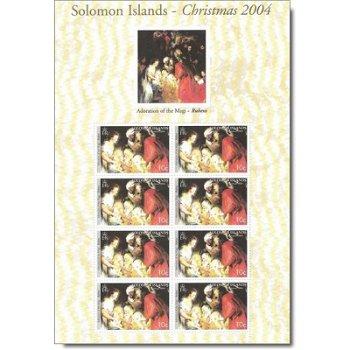 Christmas 2004 - sheetlets mint never hinged, Solomon Islands