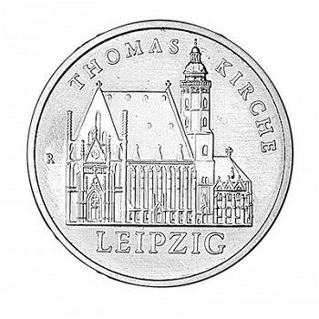 5-Mark-Münze 1984, Leipziger Thomaskirche, DDR