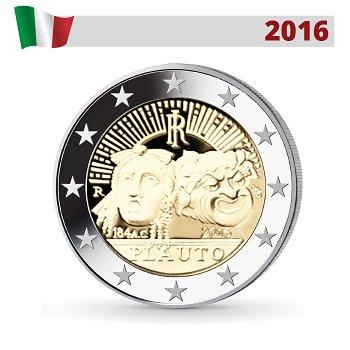 Titus Maccius Plautus, 2 Euro Münze 2016, Italien