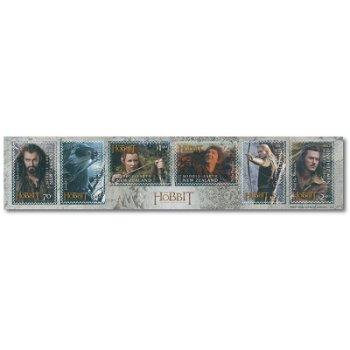 Der Hobbit, Teil 2, Smaugs Einöde - 6er-Briefmarkenstreifen postfrisch, Neuseeland