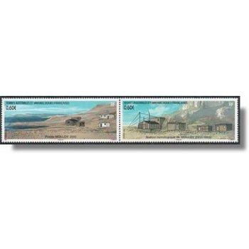 Stützpunkt Molley - 2 zusammenhängend gedruckte Briefmarken postfrisch, Katalog-Nr. 758-59,TAAF
