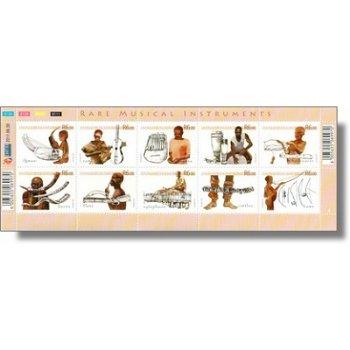 Einheimische Musikinstrumente - Kleinbogen postfrisch, Katalog-Nr. 2048-57, Südafrika