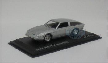 Modellauto:Lamborghini 4000 GT Flying Star II von 1966, silber (WhiteBox, 1:43)