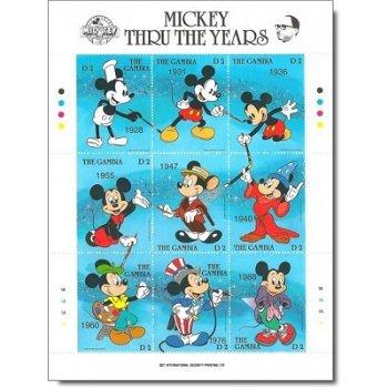 Micky Maus - Briefmarken-Block postfrisch, Gambia