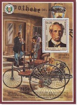 100 Jahre Auto/ Carl und Bertha Benz - Block postfrisch, Kat.-Nr. 3972 Bl. 428, Paraguay