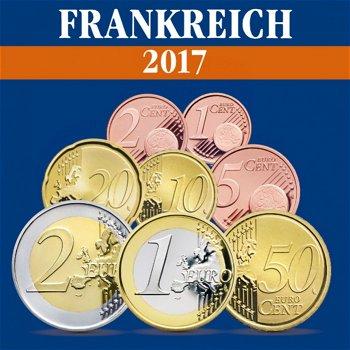 Frankreich - Kursmünzensatz 2017