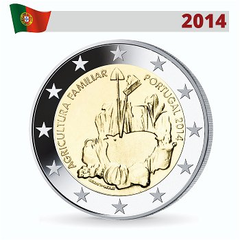 2-Euro-Münze 2014, Familienbetriebene Landwirtschaft, Portugal