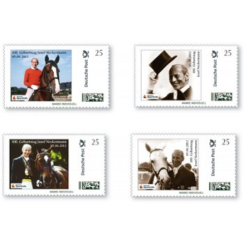 100th birthday of Josef Neckermann - 4 stamps Individual, mint never hinged