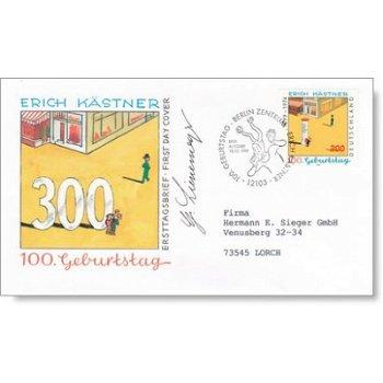 100. Geburtstag Erich Kästner - Ersttagsbrief Deutschland