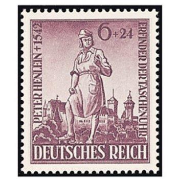 400. Todestag von Peter Henlein - Briefmarke, Katalog-Nr. 819, postfrisch, Deutsches Reich