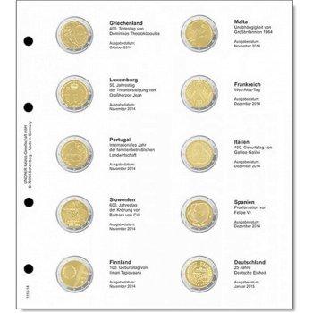 Lindner Vordruckblatt inkl. Münzblatt für 2 Euro-Gedenkmünzen chronologisch: Griechenland Oktober 20