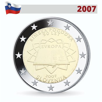 50 Jahre Römische Verträge, 2 Euro Münze 2007, Slowenien