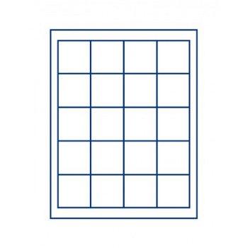 LINDNER Münzenbox, quadratische Vertiefungen 47mm, LI 2120, Marine