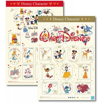 Walt-Disney Charaktere - 2 Folienbogen postfrisch, Japan