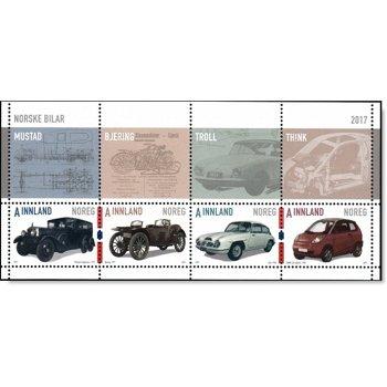 Norwegische Autos - Briefmarken-Block postfrisch, Norwegen