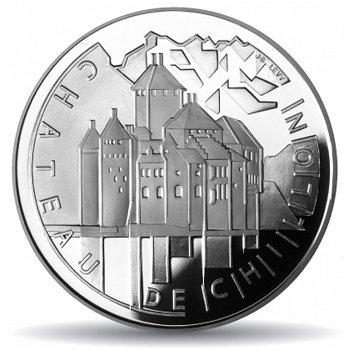 Schloss Chillon, 20 Franken Münze 2004, Polierte Platte