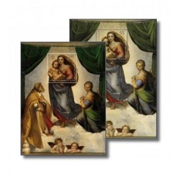 500 Jahre Sixtinische Madonna, Gemeinschaftsausgabe - 2 Briefmarken-Blocks postfrisch, Vatikan/Deuts