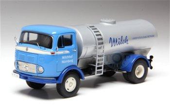 Modell-LKW:Mercedes-Benz LP 911 Tankwagen - Milch -(Premium ClassiXXs, 1:43)