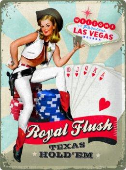 Blechschild:Las Vegas - Royal Flush - (Nostalgic Art, 30 x 40 cm)