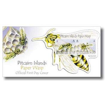 Feldwespe - Ersttagsbrief, Pitcairn